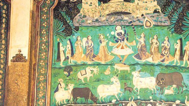 Murals at Bundi Palace