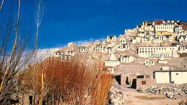 Thiksey Monastery, perched atop a rocky bluff