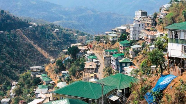 Aizawl Town, spread out on a hill