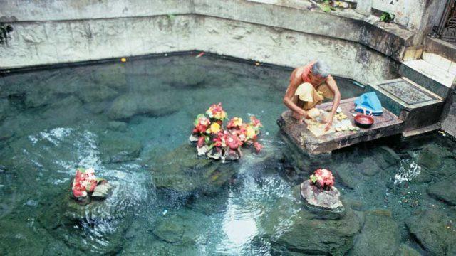 Pond at Taptapani Temple