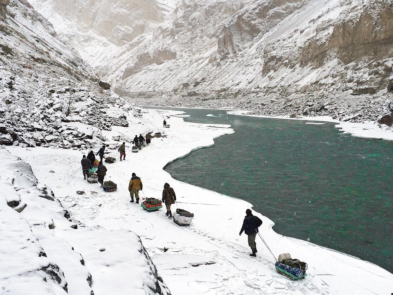 April 2017: Chadar Trek in Zanskar by Ankit Kumar Parsurampuria