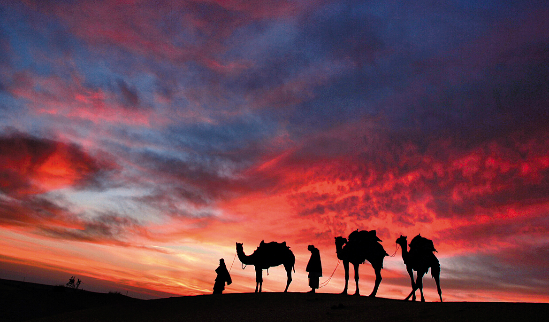January 2017: Beautiful sunrise in Jaisalmer, Rajasthan by Mustansir Lokhandwala