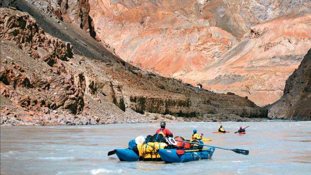 Rafting down the Zanskar River