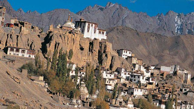 Lamayuru Gompa sprawls across a rocky promontory