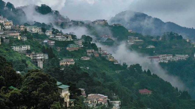 Misty clouds roll over Mussoorie, the Queen of the Hills