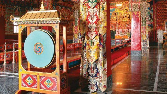 Vibrant interiors of the Palyul Cheokhorling Monastery