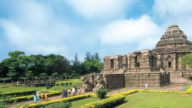 The exquisitely carved Sun Temple, a World Heritage Site