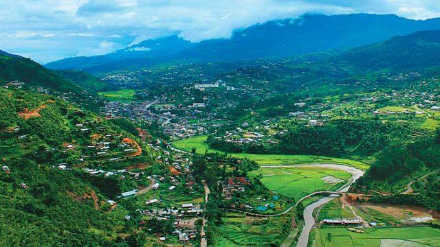 The picture-perfect town of Senapati overlooking the Senapati river