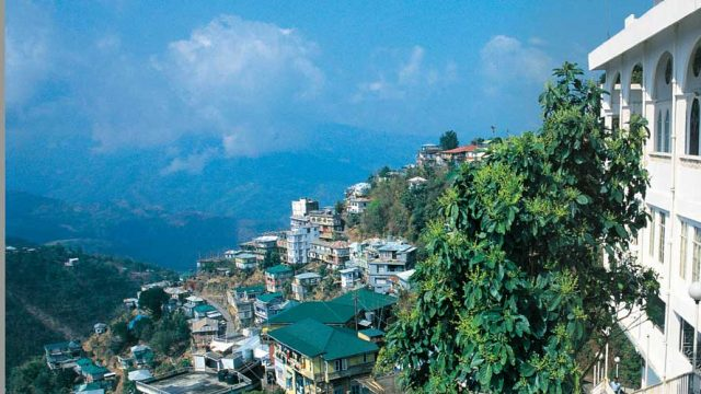 The city of Aizawl offering panoramic views of the surrounding hills