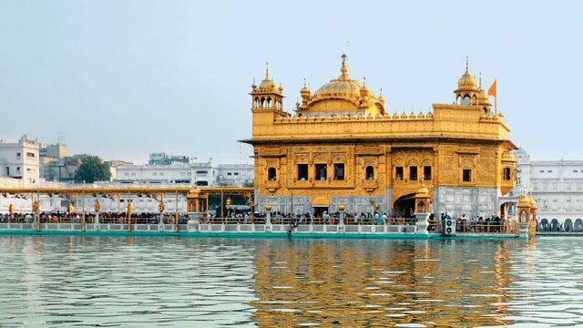 The Golden Temple, one of the holiest sites for Sikhs