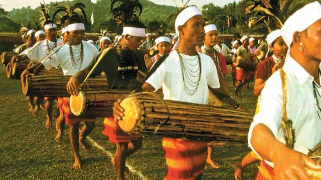 Celebrations at the Wangla festival in Meghalaya