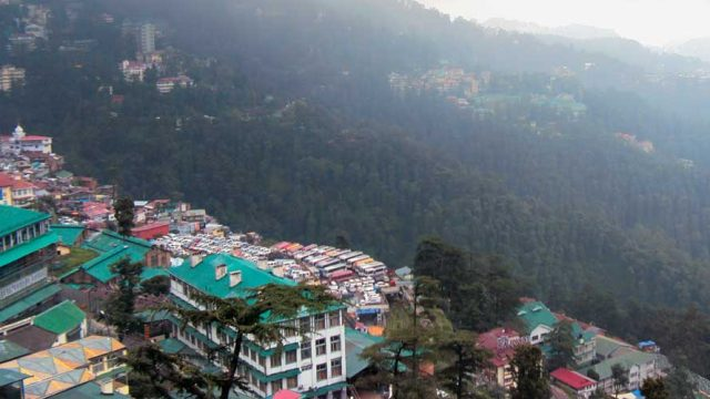 A bird's eye view of Shimla