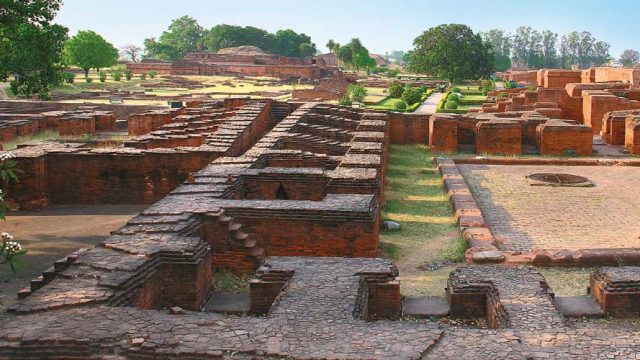 The fascinating ruins of Nalanda University spread across a large area