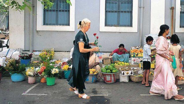 A market at Sri Aurobindo Ashram