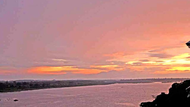 The Narmada Suite overlooks the Narmada River, which is particularly stunning at sunset