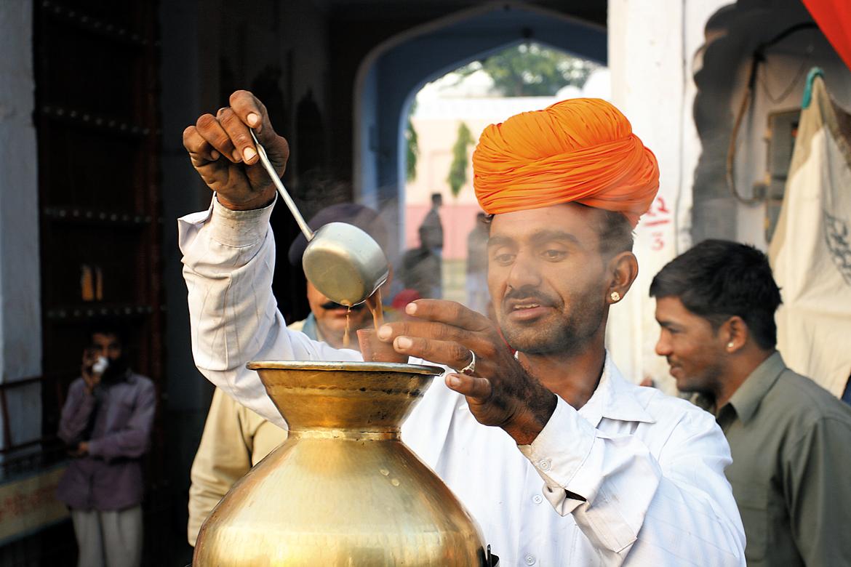 The famous, delectable masala chai of Pushkar.