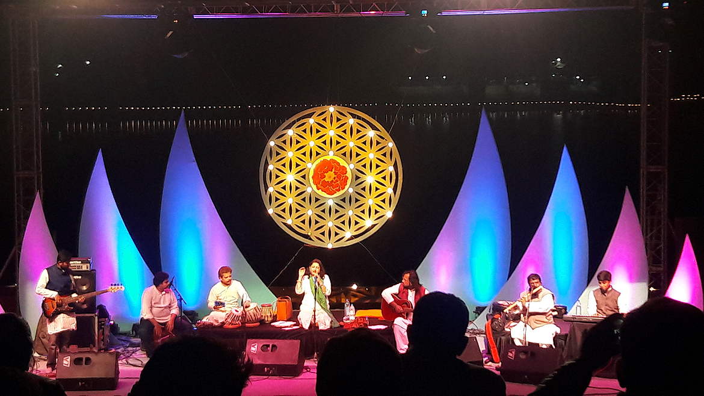 Live sufi performance at Shree Cement The Sacred Pushkar Festival.