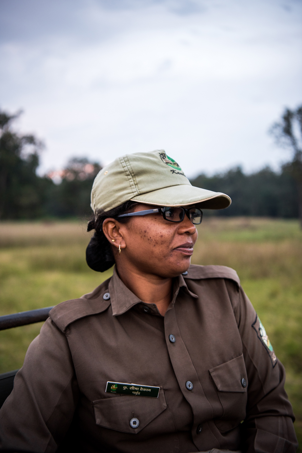 Seema, one the few women guides at Kanha National Park's Mukki Gate.