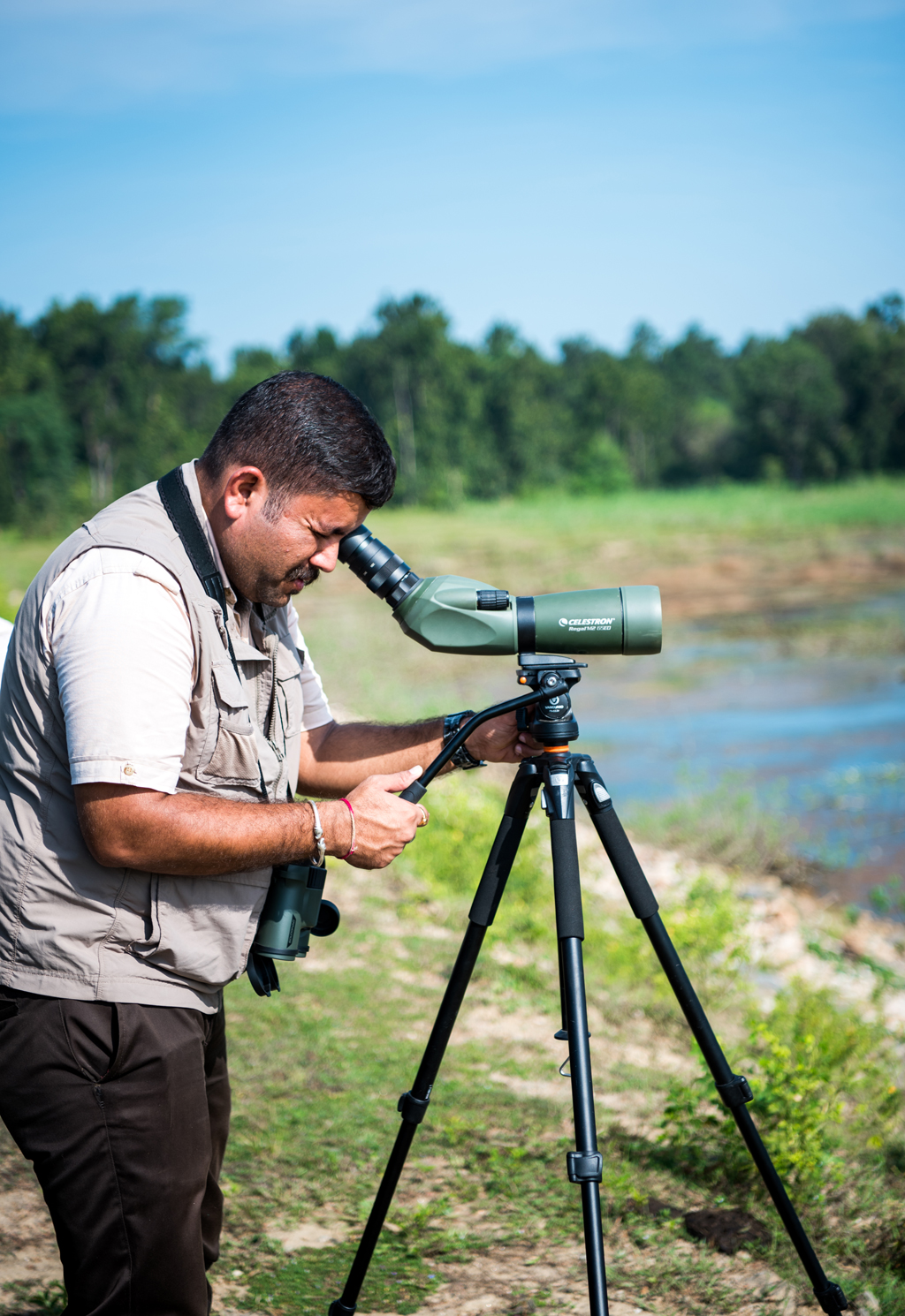 Sachin Sharma, a naturalist from the Singinawa Jungle Lodge, Kanha.