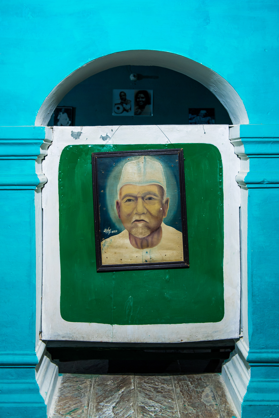 A portrait of Baba Allauddin Khan at his home in Maihar.