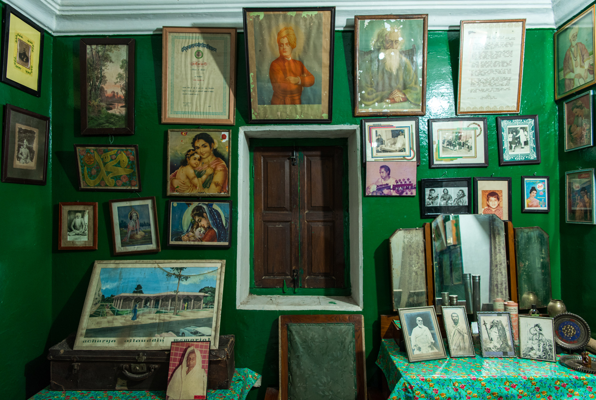 A peek into Baba's room, where his belongings are kept.
