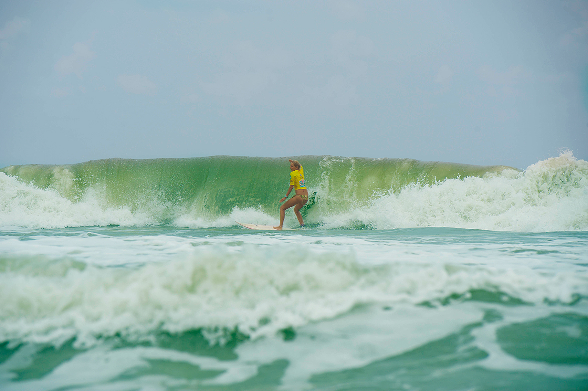 Waves of at least 7ft were a common sight on the event days