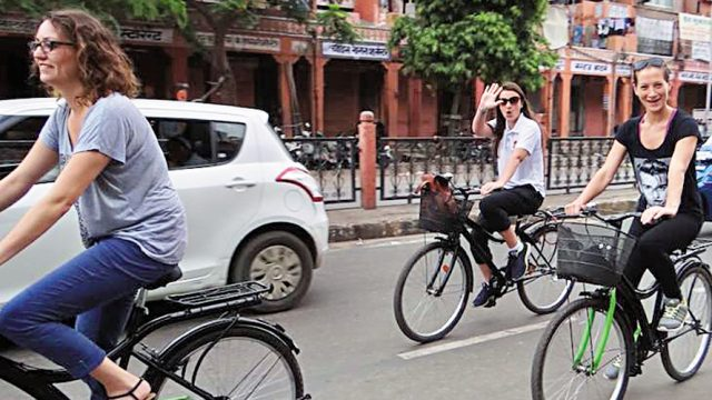Cycling in Jaipur