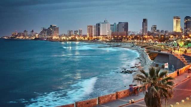 The city as seen from Jaffa