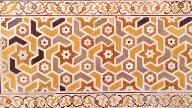 Pietra dura is the inlay technique of using cut and fitted, highly polished colored stones to create designs and patterns
