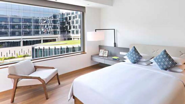 Check out the bedrooms at Andaz Delhi's new service apartments