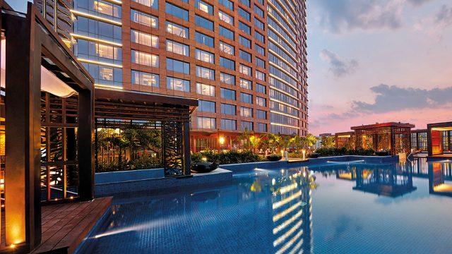 Conrad Bengaluru's infinity pool