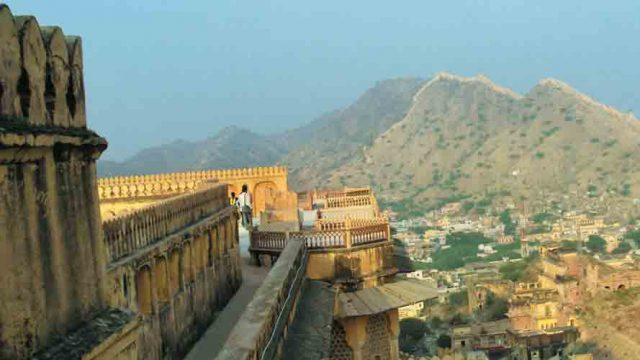 Amer Fort offers sweeping views of the city of Jaipur