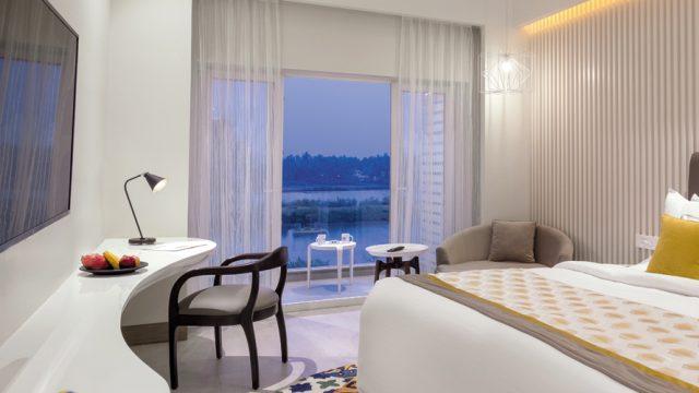 Lagoon-facing suite at THE Park Baga River