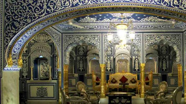 Shekhawati Frescoes and Hand Painted, Badal Mahal of Shahpura Haveli, Shahpura