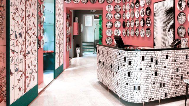 Piero Fornasetti's 'Tema e Variazioni' at the Fornasetti store