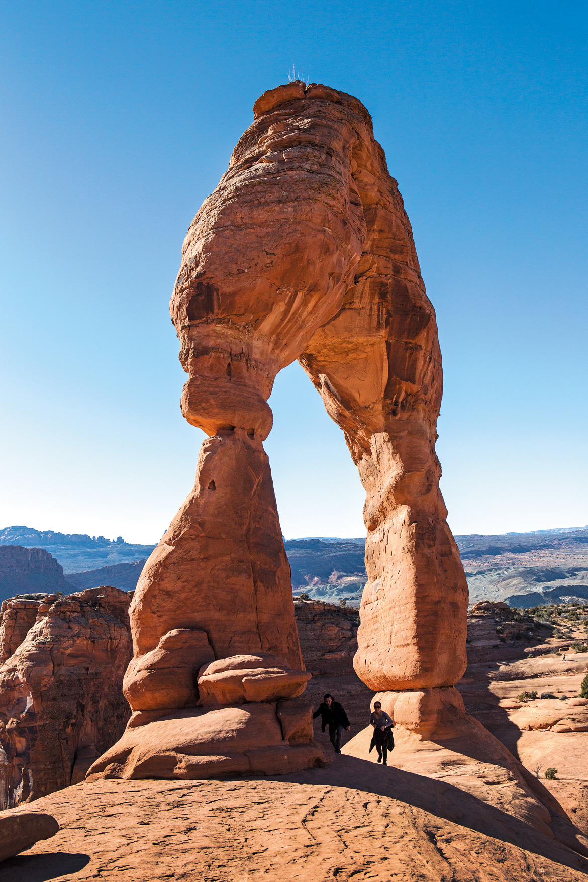 Delicate Arch at the Arches National Park is Utah's most famous landmark