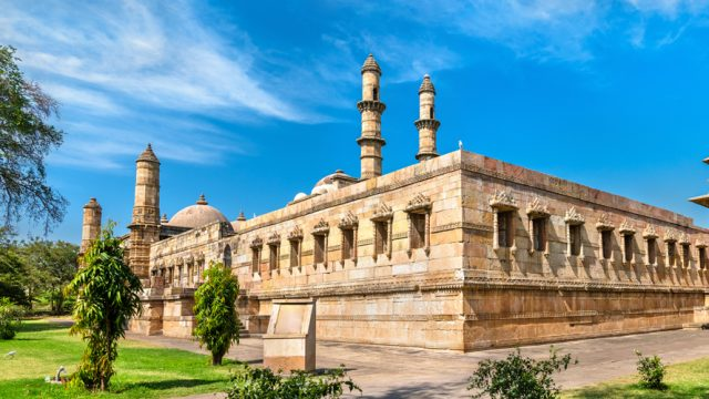 The Jami Masjid is a popular tourist at the Champaner-Pavagadh Archaeological Park