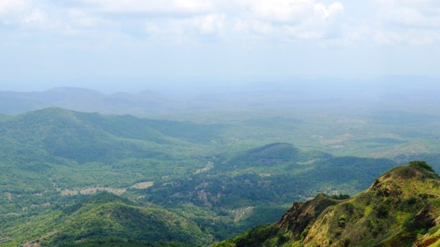 The Sahyadri mountain ranges which are home to several Maratha forts