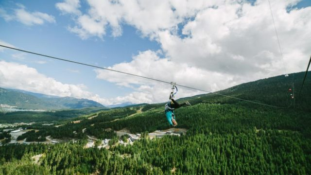 The Sasquatch zipline is the longest of its kind in Canada