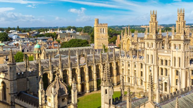 The historical Oxford University continues to be a popular location for students