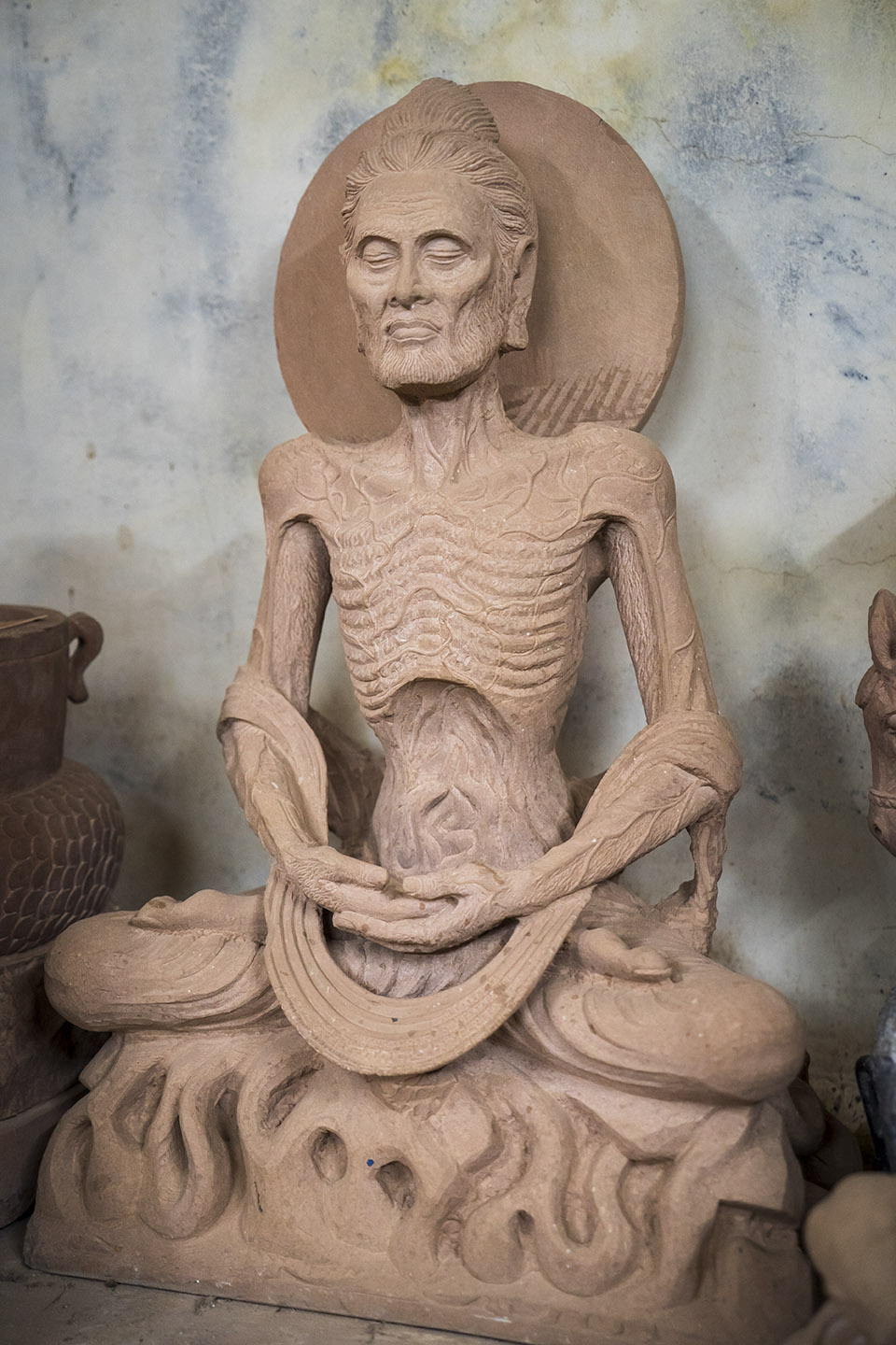 Sculpture of the fasting Buddha