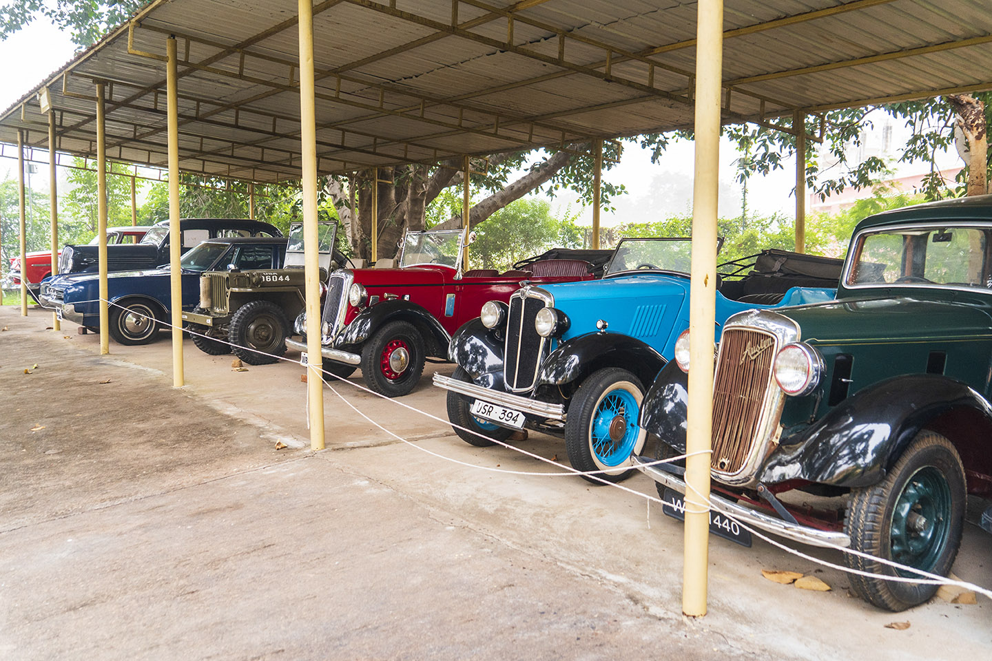 The hotel's fleet of vintage cars