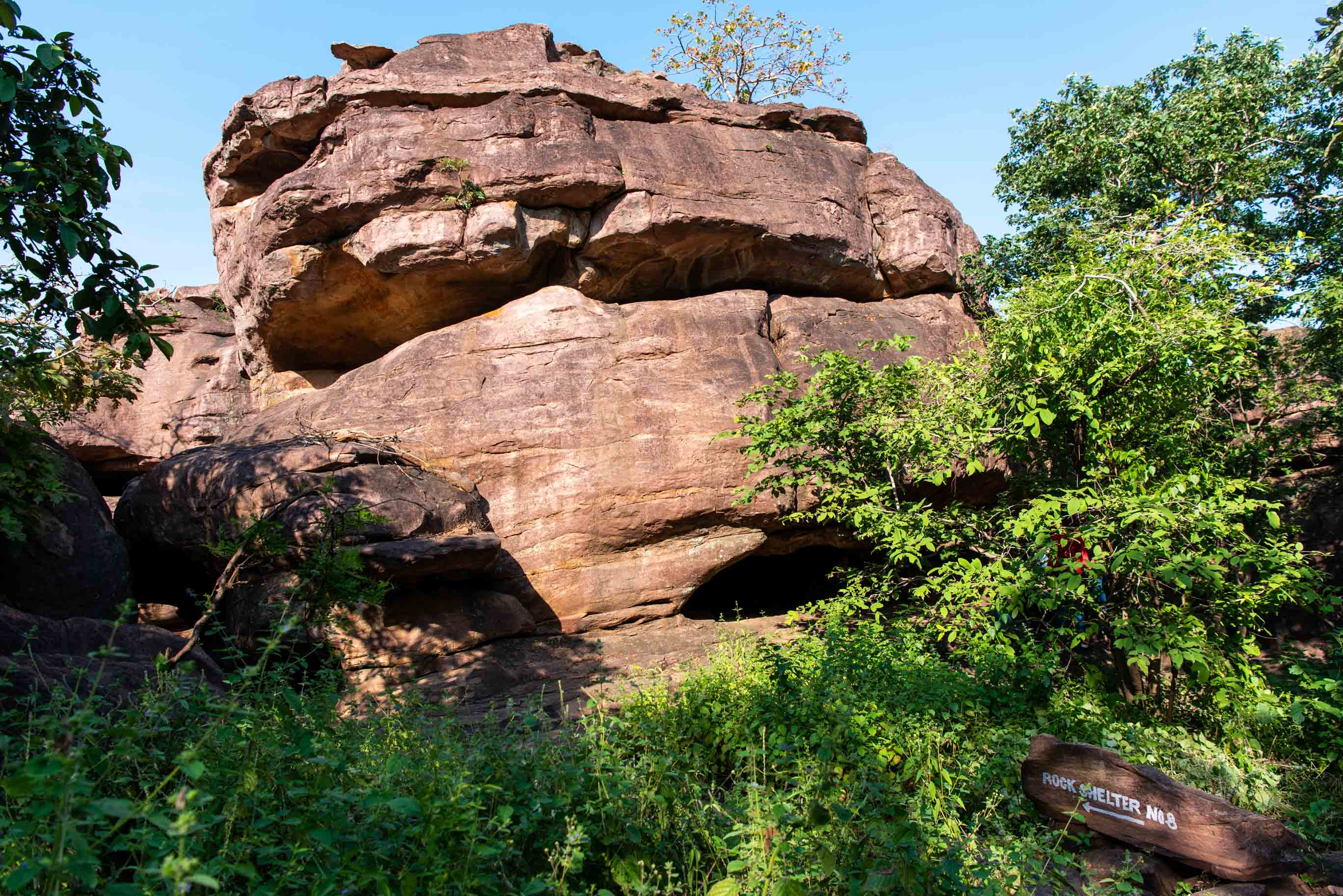 Bhimbetka is a group of 243 rock shelters with only 15 caves open to public viewing
