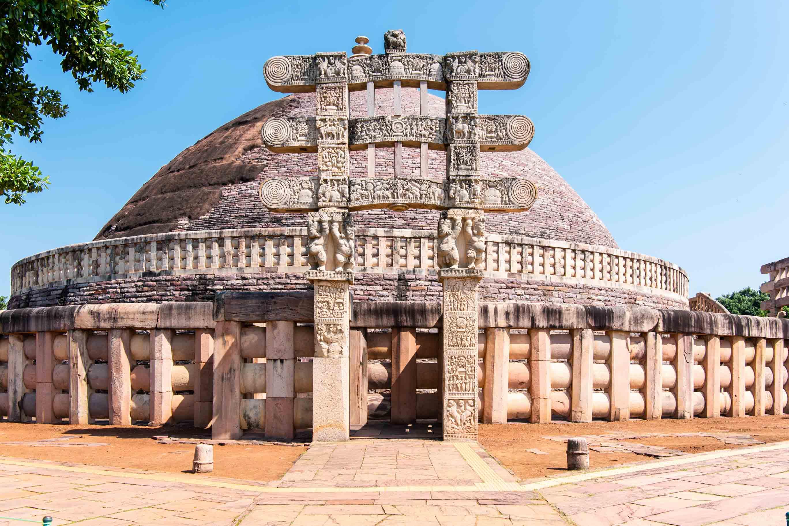 The Great Stupa at Sanchi, Western Gateway
