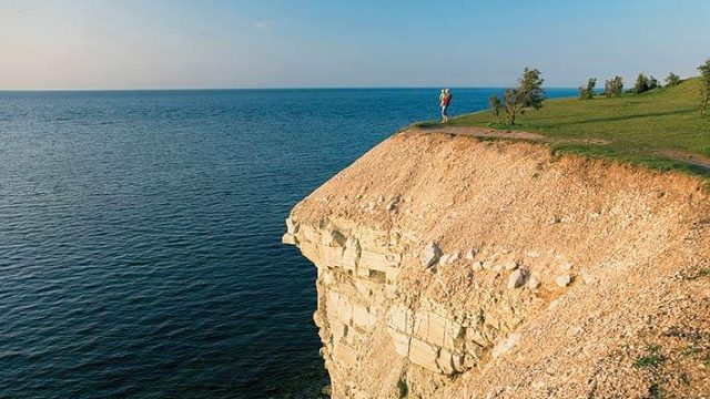 The Panga cliff on the northern shore of Saaremaa