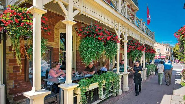 The picturesque town of Niagara-on-the-Lake, voted in 1996 as the 'loveliest town in Canada'